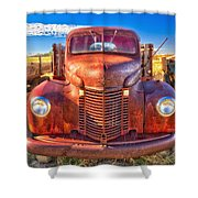 International Rust Shower Curtain