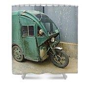 Tuk Tuk 3-wheeled Motorcycle Shower Curtain