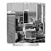 Tulsa Oklahoma Skyline Aerial Shower Curtain
