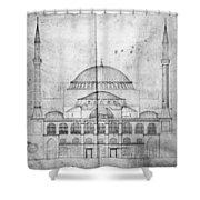 Turkey: Hagia Sophia, 1830s Shower Curtain