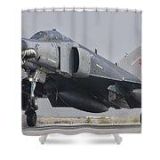 Turkish Air Force F-4 Phantom Landing Shower Curtain