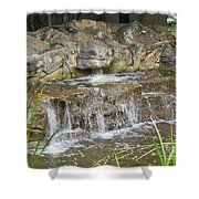Turtle Head Falls  Shower Curtain