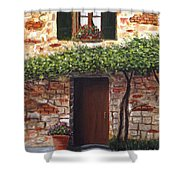 Tuscan Casa Montepulciano Shower Curtain