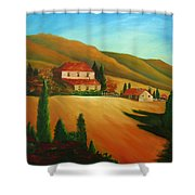 Tuscan Countryside Shower Curtain