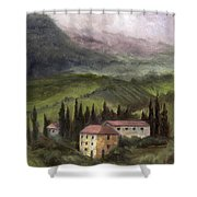Tuscan Landscape Shower Curtain