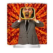 Tv Man Shower Curtain