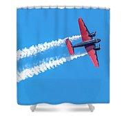 Twin Engine Plane  Shower Curtain