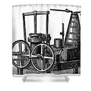 Twin-screw Steamer, 1878 Shower Curtain