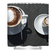 Two Cups Of Coffee Shower Curtain
