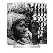 Two Elderly Apache Women Labor Day Rodeo White River Arizona 1969 Shower Curtain