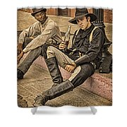 Two Of A Kind Shower Curtain by Priscilla Burgers