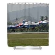 Two Sukhoi Su-27 Flanker Of The Russian Shower Curtain