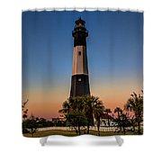 Tybee Light Sunset Shower Curtain