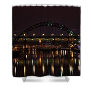 Tyne Bridge At Night Shower Curtain