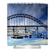 Tyne Bridge Shower Curtain