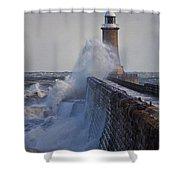 Tynemouth Pier Shower Curtain
