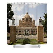 Umaid Bhawan Palace, India Shower Curtain