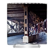 Under The Tracks Shower Curtain