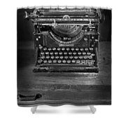 Underwood Typewriter Shower Curtain