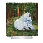 Unicorns Lap Shower Curtain