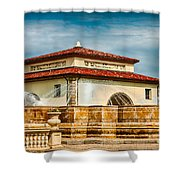 Unity Village And Fountain Shower Curtain