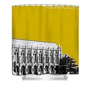 University Of Washington - Suzzallo Library - Gold Shower Curtain