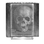 Untitled Skull Shower Curtain