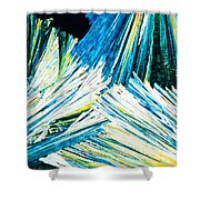 Urea Or Carbamide Crystals In Polarized Light Shower Curtain