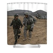 U.s. Army Commander, Right Shower Curtain
