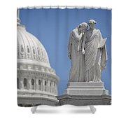 Us Capitol Peace Monument Shower Curtain