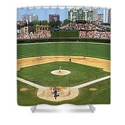 Usa, Illinois, Chicago, Cubs, Baseball Shower Curtain