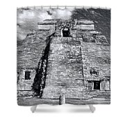 Uxmal Drawing Shower Curtain