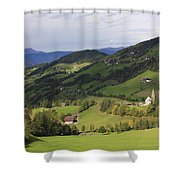 Val Di Funes Dolomites Italy Shower Curtain
