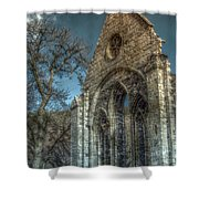 Valle Crucis Abbey Shower Curtain