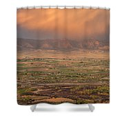 Valley Sunset Shower Curtain