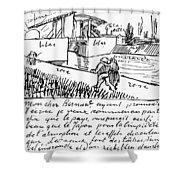 Van Gogh Letter, 1888 Shower Curtain
