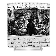 Van Gogh Letter Shower Curtain