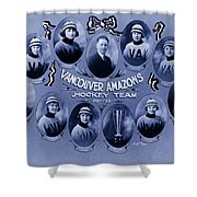 Vancouver Amazons Women's Hockey Team 1921 Shower Curtain