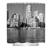 Vancouver Bc Downtown Skyline Shower Curtain