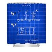 Velcro Patent 1952 - Blue Shower Curtain