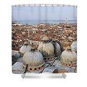 Terracotta Skyline Venice Italy Shower Curtain