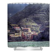 Vernazza Shower Curtain by Joana Kruse