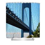 Verrazano Bridge Shower Curtain