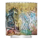 Vezelay Church And Hill Shower Curtain