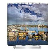 Victoria Bc Fishermans Wharf Shower Curtain