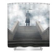 Victorian Man Shower Curtain by Joana Kruse