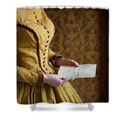 Victorian Woman Reading A Love Letter Shower Curtain