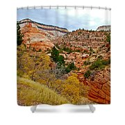 View Along East Side Of Zion-mount Carmel Highway In Zion National Park-utah   Shower Curtain