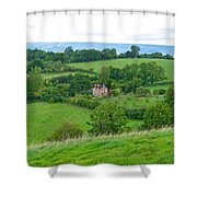View From Glastonbury Tor Shower Curtain