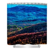 View From Table Rock Mountain Shower Curtain